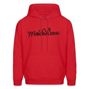 MusicFourScore Red Hoodie - Men's Hoodie