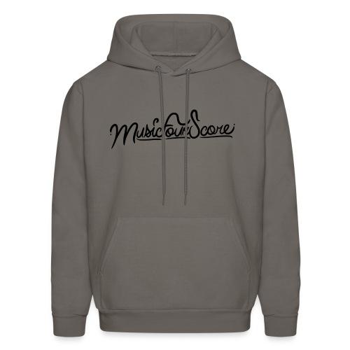 MusicFourScore Grey Hoodie - Men's Hoodie