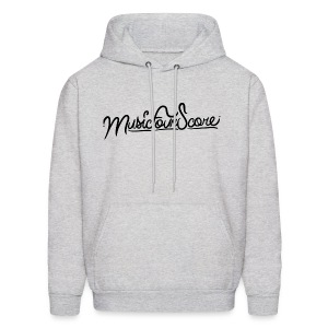 MusicFourScore Light Grey Hoodie - Men's Hoodie