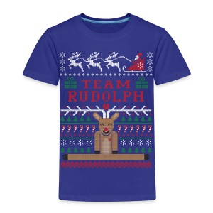 Rudolph Ugly Christmas Sweater - Toddler Premium T-Shirt