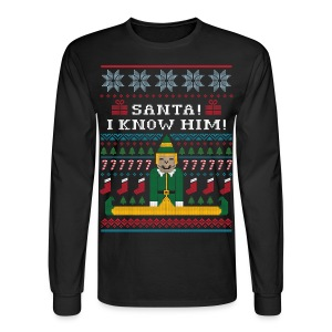 Elf Ugly Christmas Sweater - Men's Long Sleeve T-Shirt
