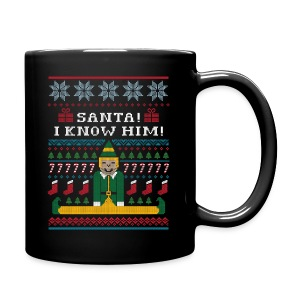 Elf Ugly Christmas Sweater Mug - Full Color Mug