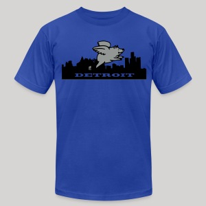 Detroit Flying Pig - Men's T-Shirt by American Apparel