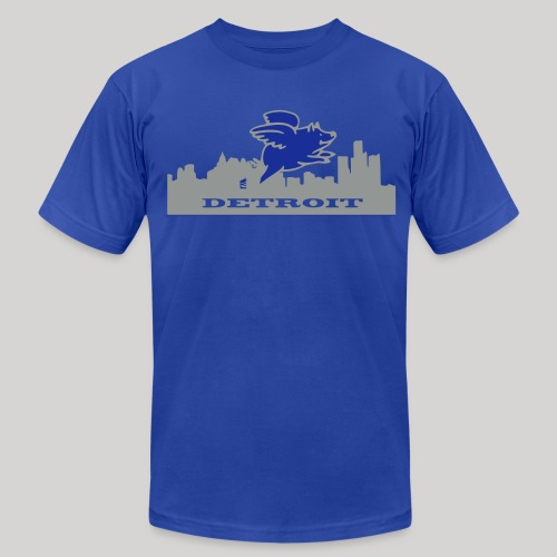 Detroit Flying Pig - Men's Fine Jersey T-Shirt