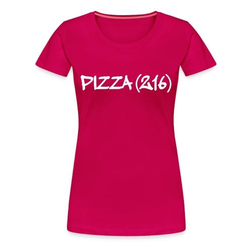 Pizza (216) T-Shirt Script Logo (W) - Women's Premium T-Shirt
