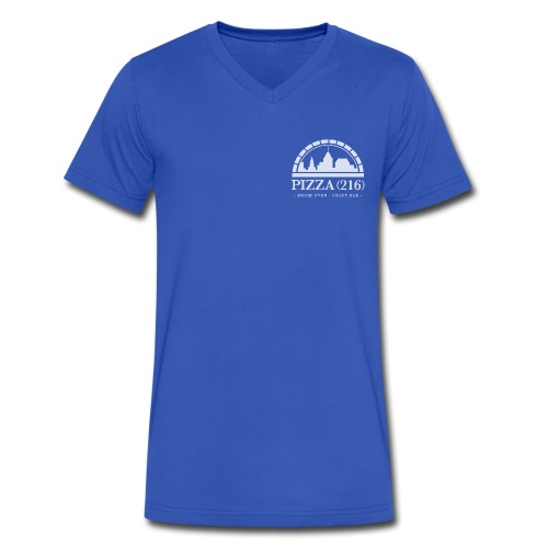 Pizza (216) V-Neck T-Shirt  - Men's V-Neck T-Shirt by Canvas