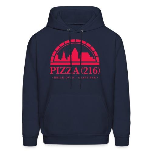Pizza (216) Hoodie (Red Logo) - Men's Hoodie