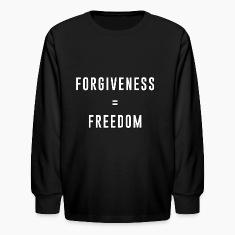 Kid's Long SleeveT-Shirt - Forgiveness = Freedom