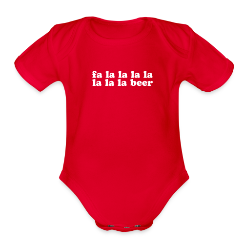 Beer Funny Christmas - Organic Short Sleeve Baby Bodysuit