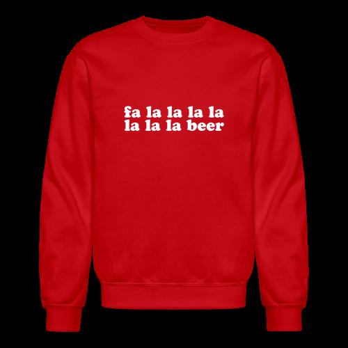 Funny Beer Christmas Song - Crewneck Sweatshirt