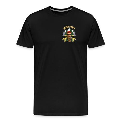 2 Sided Beard Happy Shirt - Men's Premium T-Shirt
