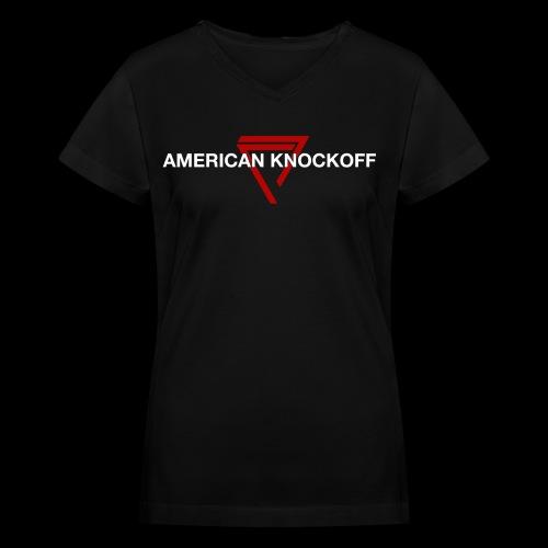 AKO RED TRIANGLE V-NECK [WOMENS] - Women's V-Neck T-Shirt