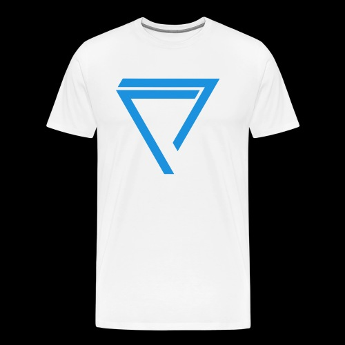 AKO BLUE TRIANGLE (2 Logo) [MENS] - Men's Premium T-Shirt