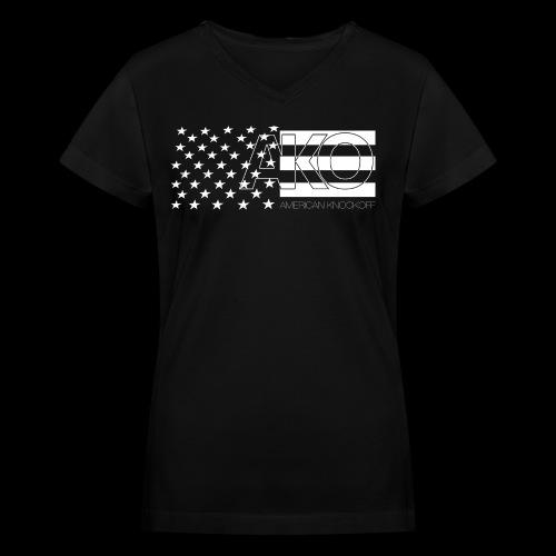 AKO STARS & STRIPES V-NECK [WOMENS] - Women's V-Neck T-Shirt