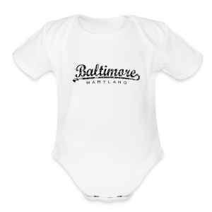 Baltimore, Maryland Baby One Piece - Short Sleeve Baby Bodysuit