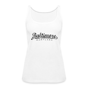 Baltimore,Maryland Tank Top (Women/White) - Women's Premium Tank Top