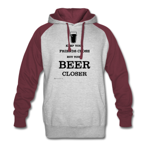 Keep Your Beer Closer Men's Colorblock Hoodie - Colorblock Hoodie