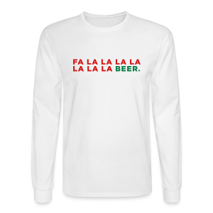 Beer Christmas Song Men's Long Sleeve Shirt - Men's Long Sleeve T-Shirt