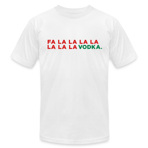 Vodka Christmas Song - Men's T-Shirt by American Apparel
