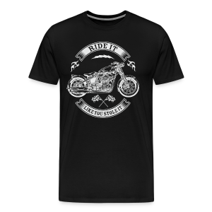 Ride It_revers - Men's Premium T-Shirt