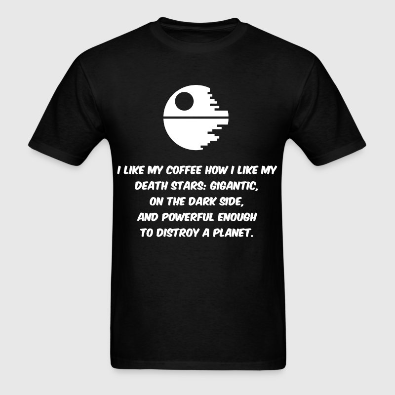 Star Wars and coffee humor - Men's T-Shirt
