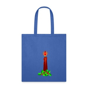 Red Christmas Candle  - Tote Bag