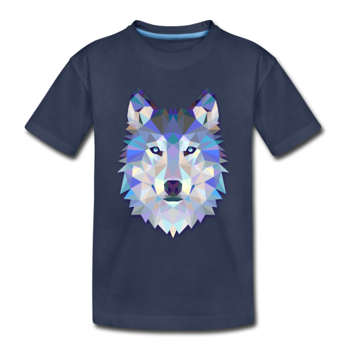 Wolf Abstract - Toddler Premium T-Shirt