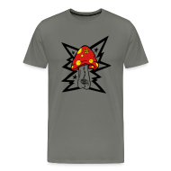 T-Shirts ~ Men's Premium T-Shirt ~ Psychedelic Mushroom - Gray Tee