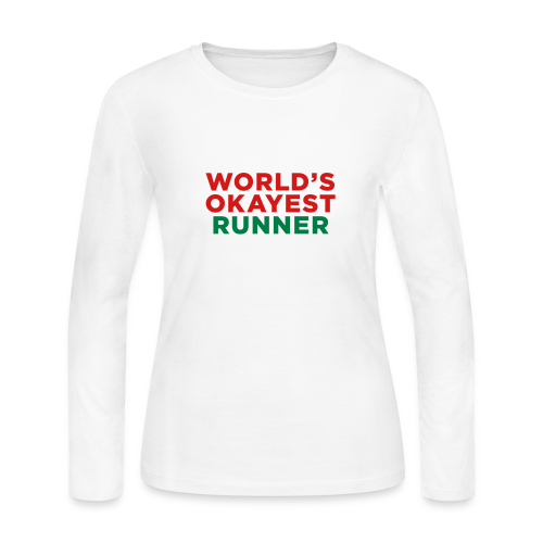World's Okayest Runner - Women's Long Sleeve Jersey T-Shirt
