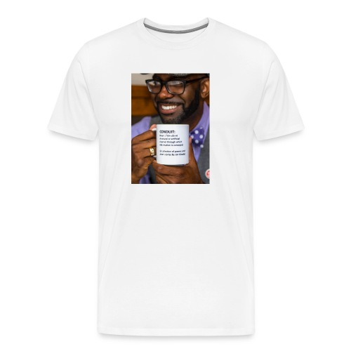 Conduit by Jon Goode Men's T-Shrt [Book Cover White] - Men's Premium T-Shirt