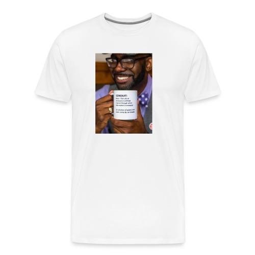 Conduit by Jon Goode Men's T-Shrt [Book Cover White] - Men's Premium T-Shirt