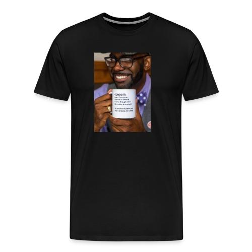 Conduit by Jon Goode Men's T-Shrt [Book Cover Black] - Men's Premium T-Shirt