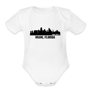 miami, florida - Short Sleeve Baby Bodysuit