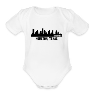 houston, texas - Short Sleeve Baby Bodysuit