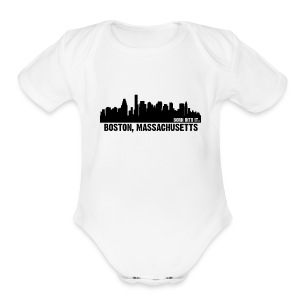 boston, mass - Short Sleeve Baby Bodysuit