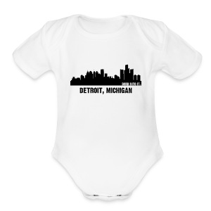 detriot, michigan - Short Sleeve Baby Bodysuit