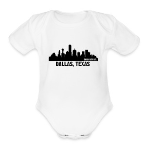 dallas, texas - Short Sleeve Baby Bodysuit