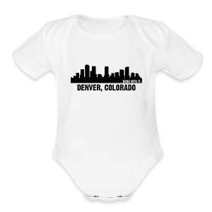 denver, colorado - Short Sleeve Baby Bodysuit