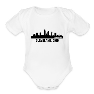 cleveland, ohio - Short Sleeve Baby Bodysuit