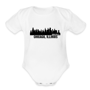 chicago, illinois - Short Sleeve Baby Bodysuit