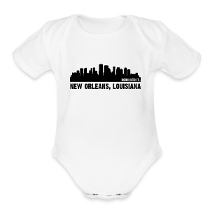 new orleans, louisiana - Short Sleeve Baby Bodysuit