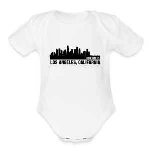 los angeles, califorina - Short Sleeve Baby Bodysuit