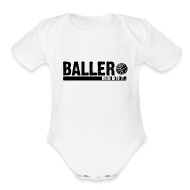 Baby Bodysuits ~ Baby Short Sleeve One Piece ~ baller
