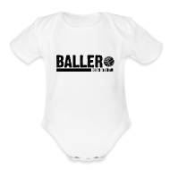 Baby Bodysuits ~ Baby Short Sleeve One Piece ~ baller