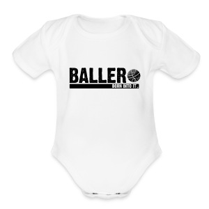 baller - Short Sleeve Baby Bodysuit