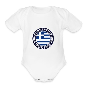 greek - Short Sleeve Baby Bodysuit