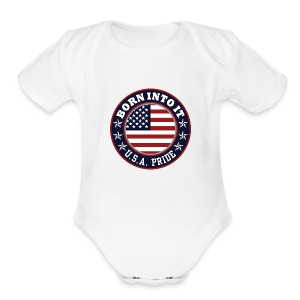 usa - Short Sleeve Baby Bodysuit