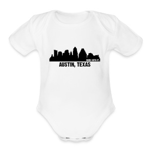 austin, texas - Short Sleeve Baby Bodysuit