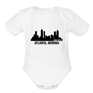 atlanta, georgia - Short Sleeve Baby Bodysuit