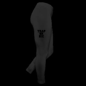 Trap or Die Leggings (White) - Leggings